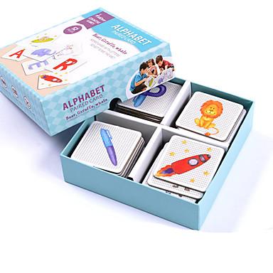 Pedagogiset kortit Montessori-opetusväline Palapeli Isyyspelejä Opetuslelut Koulutus Neliö Lasten Lahja
