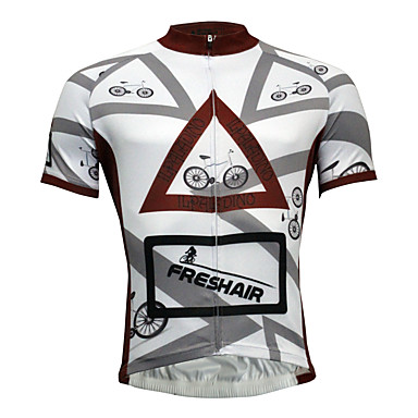 ILPALADINO Men's Short Sleeve Cycling Jersey Solid Color Bike Jersey Top, Quick Dry Polyester Coolmax® Eco-friendly Polyester / Stretchy