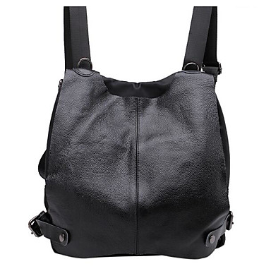 Women Bags All Seasons Cowhide Backpack for Casual Black