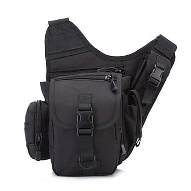 Men Shoulder Bag Nylon All Seasons Casual Outdoor Round Zipper Green Black Brown