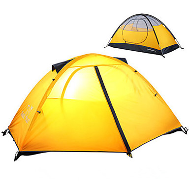 1 person Tent Double Layered Camping Tent Outdoor Fold Tent Rain-Proof / Dust Proof / Foldable for Camping / Hiking / Outdoor 2000-3000 mm