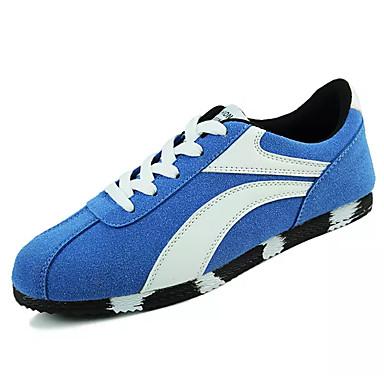 Miesten kengät PU Kevät Syksy Comfort Lenkkitossut varten ulko- Musta Tumman sininen Sininen