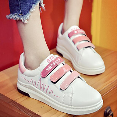Women's Shoes PU Spring Comfort Sneakers For Casual Black Green Blushing Pink