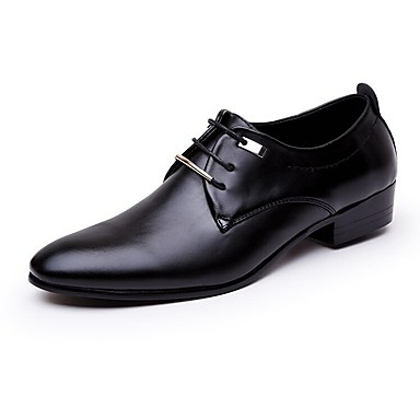 Men's Formal Shoes PU(Polyurethane) Spring / Fall Business / Comfort Oxfords Black / Brown