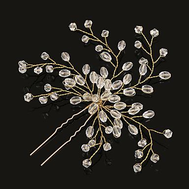 Műanyag / Ötvözet Virágok / Hair Tool / Hair Stick 1 Esküvő / Különleges alkalom / Születésnap Sisak / Hair Pin