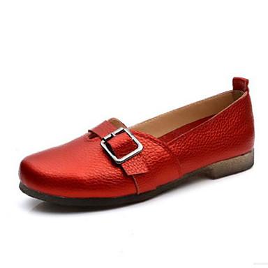 Damen Schuhe PU Sommer Komfort Loafers & Slip-Ons Für Normal Rot