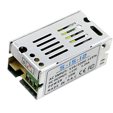 Hkv® 1pcs Mini-Größe führte Schaltnetzteil 12v 1.25a 15w Beleuchtung Transformator Netzteil ac100v 110v 127v 220v zu dc12v LED-Treiber