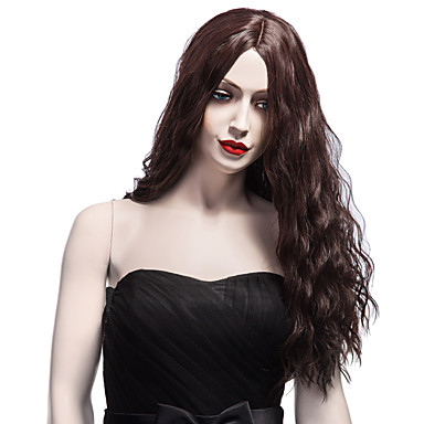 Synthetic Wig Loose Wave / Water Wave Synthetic Hair Middle Part / African American Wig Brown Wig Women's Long Capless