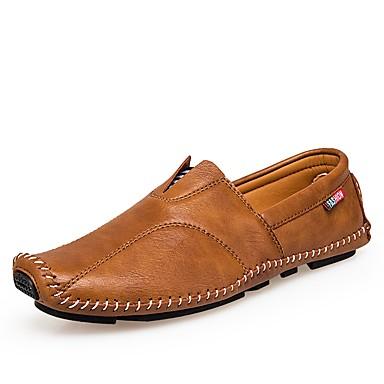 Férfi Kényelmes cipők Bőr Nyár / Ősz Papucsok & Balerinacipők Fekete / Barna / Stétszürke