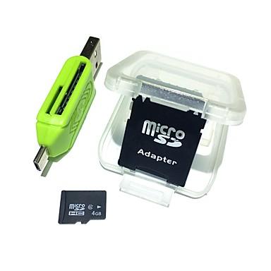 4gb microsdhc tf paměťová karta s 2 v 1 usb otg čtečka karet micro usb otg