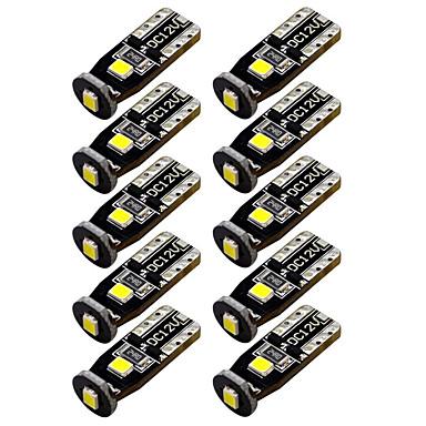10pcs T10 Autó Izzók 3W SMD 3030 300lm LED izzók Belső világítás