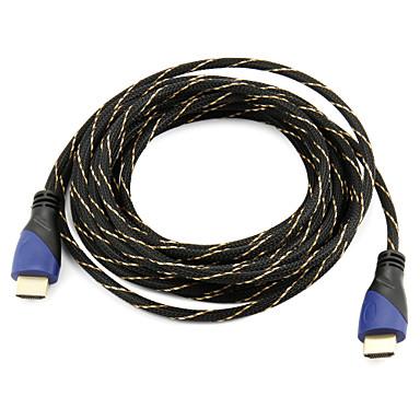 High Speed HDMI kabel 3d pro inteligentní vedla HDTV, Apple TV, Blu-Ray DVD (5 m) podpora 1.4v
