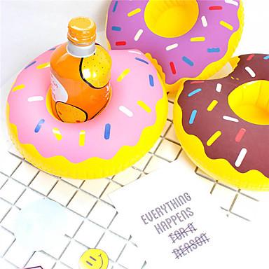 aufblasbare Donut Cup Inhaber schwimmende Untersetzer trinken Getränkehalter Pool Party liefert