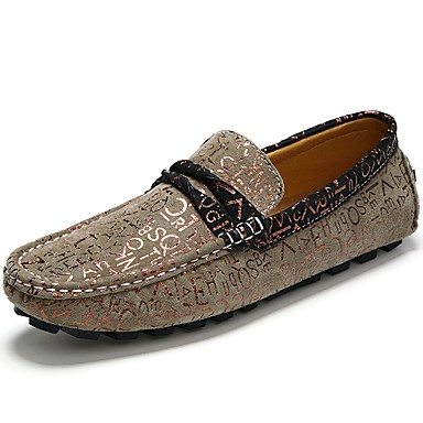 Men's Moccasin Suede Fall / Winter Loafers & Slip-Ons Coffee / Khaki / Party & Evening