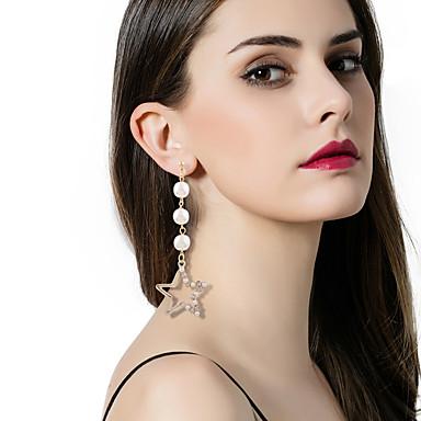 Női Luxus / Bikini / Eltérés Mások Rendhagyó fülbevalók - Luxus / Bikini / Divat Fehér / Fekete Geometric Shape Fülbevaló Kompatibilitás