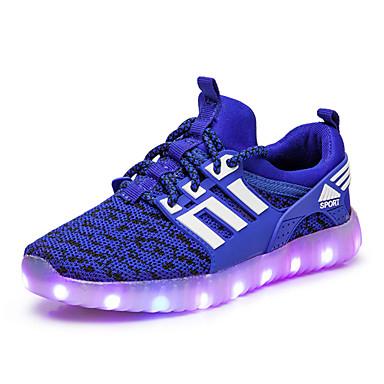 Para Meninos Sapatos Tule Primavera Tênis com LED Tênis Caminhada para Preto / Verde / Azul
