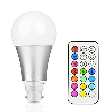 1pc 12 W 800 lm B22 / E26 / E27 LED Smart Bulbs A60(A19) 1 LED Beads Integrate LED Dimmable / Remote-Controlled / Decorative RGBW / RGBWW 85-265 V / 1 pc / RoHS