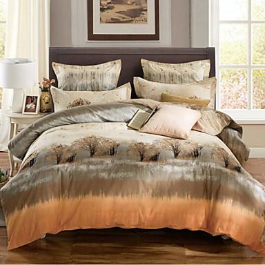 Kreativ 4 Stück Baumwolle Baumwolle 1 Stk. Bettdeckenbezug 2 Stk. Kissenbezüge 1 Stk. Spannbetttuch