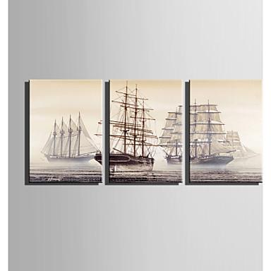 Mintás vászon Három elem Vászon Függőleges Nyomtatás fali dekoráció lakberendezési