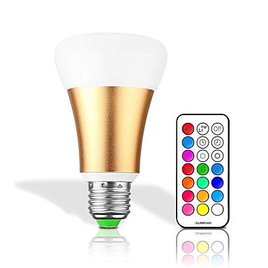 10W 550lm Okos LED izzók 32 LED gyöngyök Integrált LED Tompítható Dekoratív Távvezérlésű RGB + fehér RGB + Meleg 85-265V
