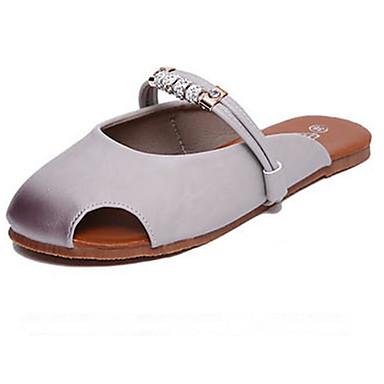 Damen Schuhe PU Sommer Komfort Flache Schuhe Für Normal Weiß Hellgrau Grün
