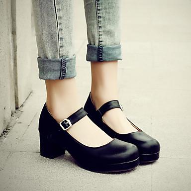Damen Schuhe Nubukleder PU Frühling Komfort Bootsschuhe Für Normal Schwarz Rot Leicht Rosa