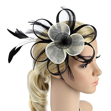 sulka netto kiehtova kukka päähine klassinen naisellinen tyyli
