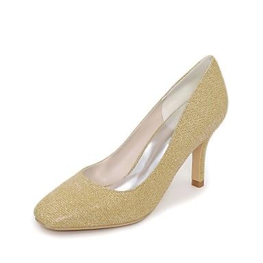 Női Cipő Glitter Tavasz Nyár Magasított talpú Esküvői cipők Tűsarok Szögletes orrú mert Esküvő Party és Estélyi Arany Fekete Ezüst Piros