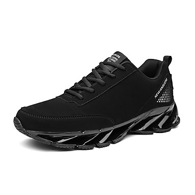 Men's Light Soles Nappa Leather Fall / Winter Comfort Athletic Shoes Running Shoes Black / Black / White / Black / Red