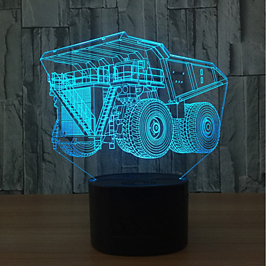 1set 3D Nightlight Touch 7-Color USB Touch Sensor Color-Changing