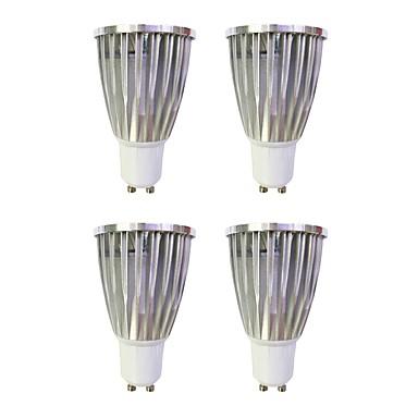 4db 6W 480lm GU10 LED szpotlámpák MR16 1 LED gyöngyök COB Meleg fehér Fehér 220-240V