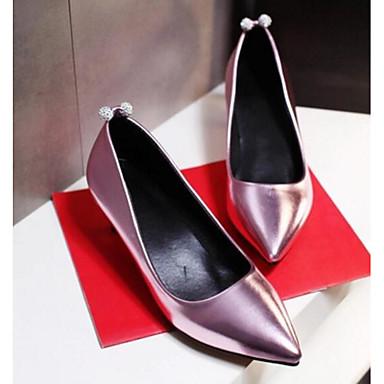 Damen Schuhe PU Frühling Sommer Komfort High Heels Für Normal Gold Silber Rosa