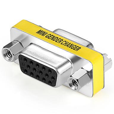 VGA Adapter, VGA to VGA Adapter Buchse - Buchse Vernickelter Stahl