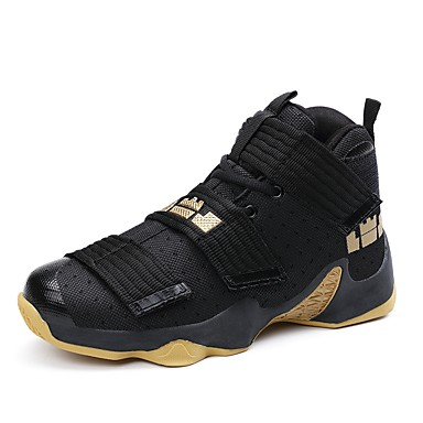 Men's Nubuck leather / Polyamide fabric / Mesh Fall / Winter Comfort Athletic Shoes Basketball Shoes Dark Blue / Black / White / Black / Red