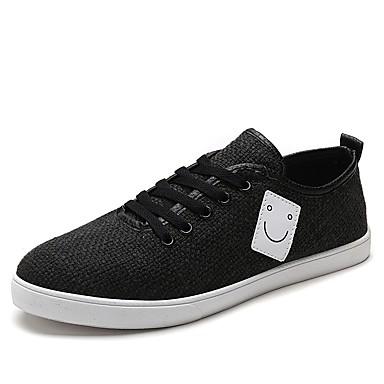 Férfi cipő PU Tavasz / Ősz Kényelmes Tornacipők Fehér / Fekete / Khakizöld