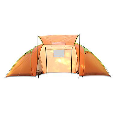 3-4 Personen Zelt Doppel Camping Zelt Einzimmer Familien Zelte Wasserdicht Rasche Trocknung Regendicht Staubdicht Klappbar für Camping &
