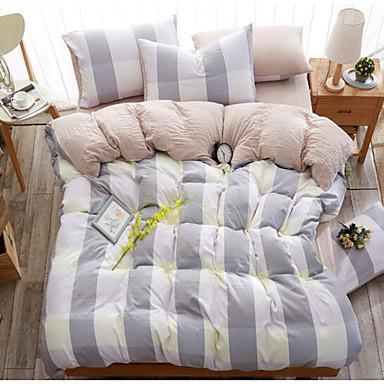 Schottenstoff/Kariert 4 Stück Baumwolle Druck Baumwolle 1 Stk. Bettdeckenbezug 2 Stk. Kissenbezüge 1 Stk. Betttuch