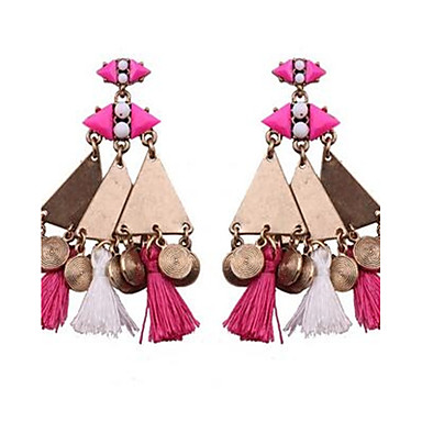 Damen Tropfen-Ohrringe individualisiert überdimensional Vintage Böhmen-Art Aleación Runde Form Dreiecksform Schmuck Für Normal Festtage