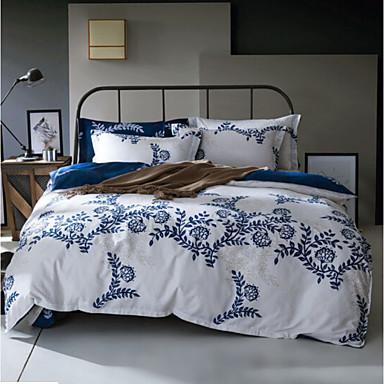 Pflanzen 4 Stück Polyester / Baumwolle Druck Polyester / Baumwolle 4-teilig (1 Bettbezug, 1 Bettlaken, 2 Kissenbezüge)