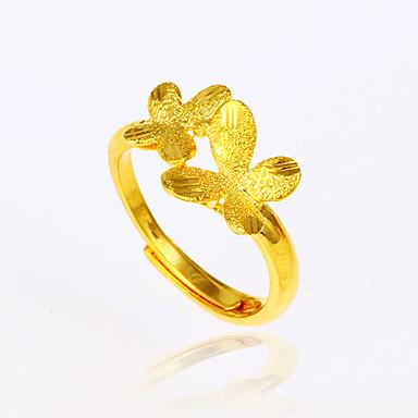 Damen Stulpring Grundlegend Elegant Modisch Einstellbar vergoldet Schleifenform Schmetterling Blume Tier Modeschmuck Geburtstag Verlobung