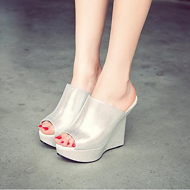 Damen Schuhe PU Sommer Pumps Sandalen Für Normal Silber