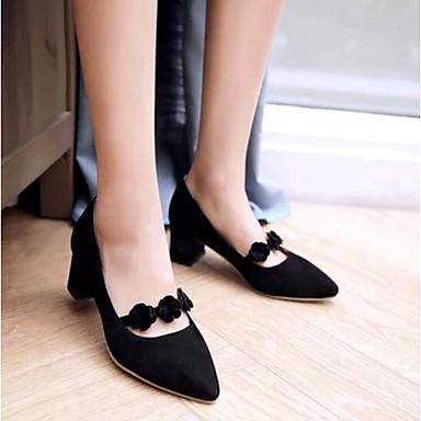 Damen Schuhe PU Sommer Komfort High Heels Für Normal Schwarz Rosa