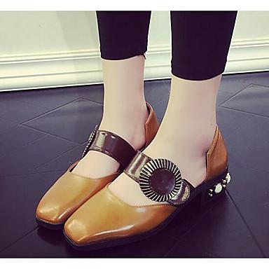 Damen Schuhe PU Frühling Komfort Sandalen Für Normal Schwarz Beige Hellbraun
