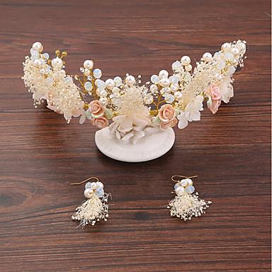 Tüll Chiffon Künstliche Perle Seide Netz Aleación Stirnbänder Blumen 1 Hochzeit Besondere Anlässe Geburtstag Party / Abend Kopfschmuck