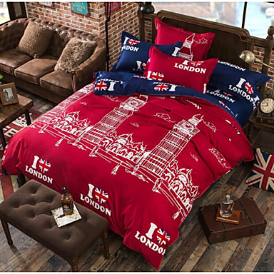 Comfortable Duvet Cover, 100% Polyester Printed Flag