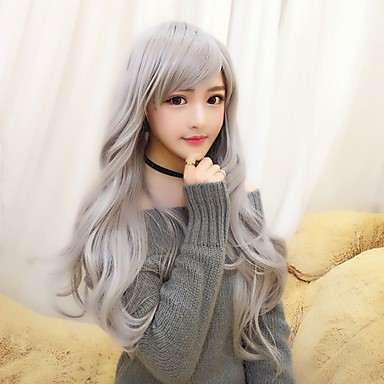 Lolita Wigs Gray Cosplay Curly Lolita Wig 28 inch Cosplay Wigs Wig Halloween Wigs
