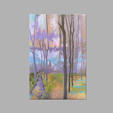 رسمت باليد الأزهار/النباتية عمودي, فني كنفا هانغ رسمت النفط الطلاء تصميم ديكور المنزل لوحة واحدة
