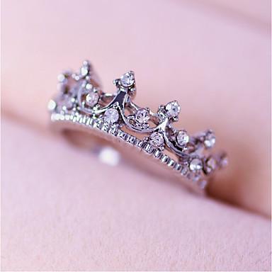 ราคาถูก แหวน-สำหรับผู้หญิง แหวน / แหวนมงกุฎเจ้าหญิง สีเงิน โลหะผสม สุภาพสตรี / ส่วนบุคคล งานแต่งงาน / ปาร์ตี้ / ทุกวัน เครื่องประดับเครื่องแต่งกาย