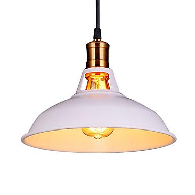 átmérő 30cm szüreti függesztett lámpa 1-könnyű fém árnyékoló nappali étkező folyosó világítás
