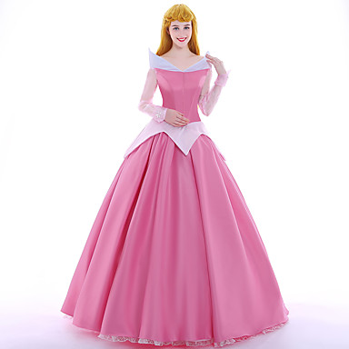 Princess Fairytale Queen Aurora Cosplay Costume Party Costume Masquerade Movie Cosplay Pink Dress Petticoat Wig Christmas Halloween